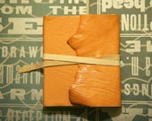 Sheepskin Fold-Over Journal - Leather Book with Tie