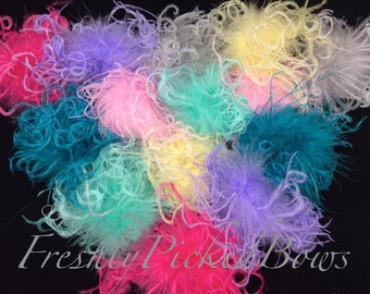Curly Ostrich Puff Grab Bag 14 pieces