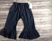 Denim ruffle pants ... 3m to 8y