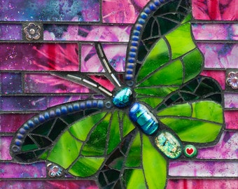 Chartreuse Butterfly 8x10 - Matted Giclée Fine Art Print