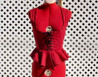 Corset with Peplum Made to Order