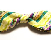 Pastel Easter Spring Colors New Bow Tie Men Adjustable Pretied Handmade Cotton Bowtie Gustys