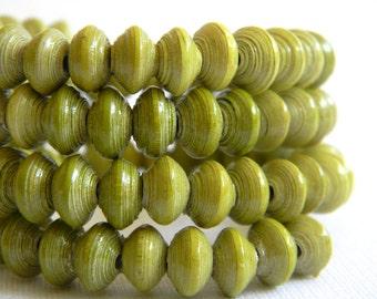 Paper Bead Jewelry - Memory Wire Bracelet - #1412