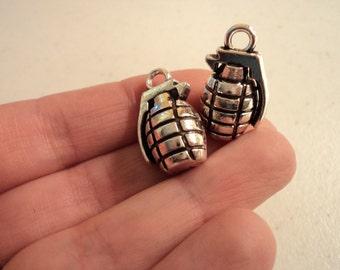 Hand Grenade Charm - Set of 2 - #G126
