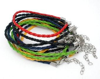 Braided Cord Bracelets - 5 bracelets