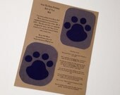 Grey and Purple Paw Print Knee Patch, Applique, Iron On Patch, Jeans Repair Kit, Set of  TWO, One for each knee!