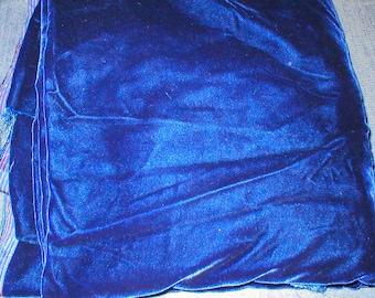 2 1/2 yards 48 wide 80s blue velvet fabric