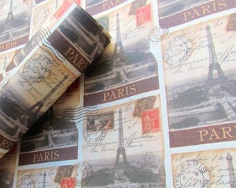 Decorative Paper - French Postcards - 9x12 - Qty:4