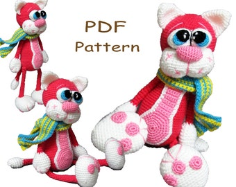 Crochet toy Amigurumi Pattern - Cherry Cat