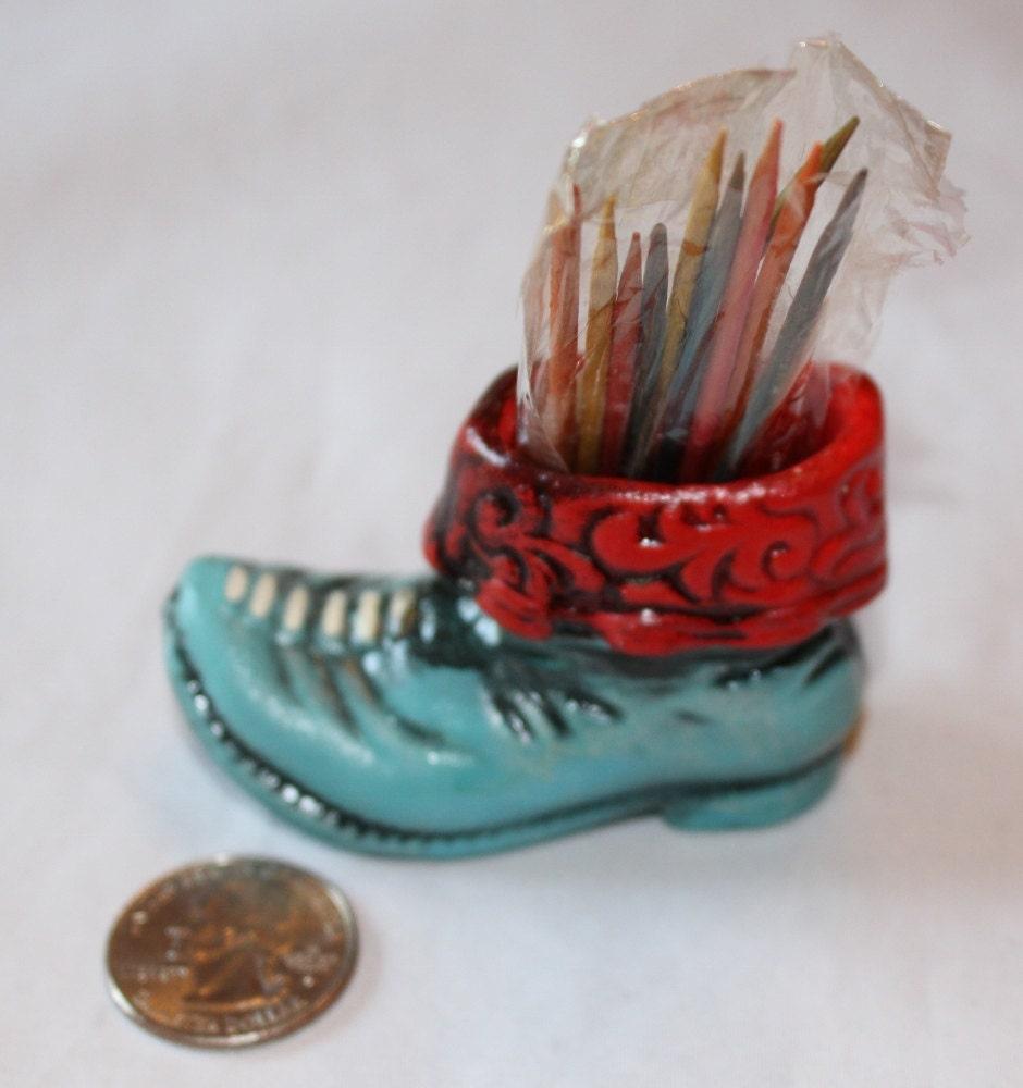 Vintage toothpick holder novelty comical old by ilovevintagestuff - Novelty toothpicks ...