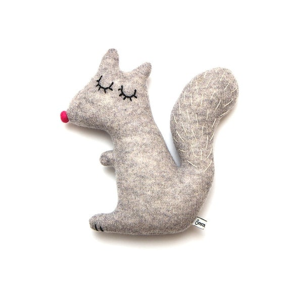 Doris the Squirrel Lambswool Plush Toy