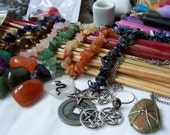 Assorted Wicca Supplies - LOVE LUST FRIENDSHIP - Incense Herbs Charms Stones Pagan Supplies