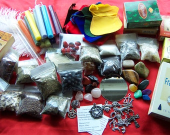 Witchcraft Wicca Supplies - PROTECTION CLEANSING EXORCISM - Incense Herbs Charms Stones Mirror Mojo Bag Pagan Supplies