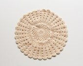 Cream Doily - Vintage Small Home Decor