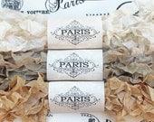 Seam Binding Ribbon,Scrunched Ribbon, Shabby Crinkled Ribbon,Beige, Ivory,  French Vintage, Scrapbooking, Gift Wrap, Sidewalk Cafe