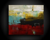Large Abstract Painting Modern Painting Canvas Wall Art by THE RAW CANVAS Art Artwork Original Big