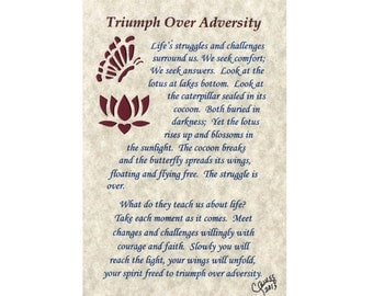 triumph through adversity essay We all need an inspirational example to help us rise to challenges we face in our own lives here, are six extraordinary examples of overcoming adversity.