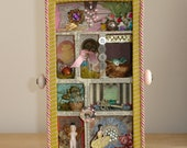 Victorian Fantasy Mixed Media Shadow Box Assemblage OOAK