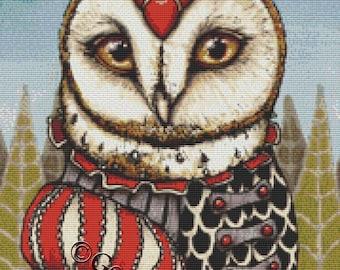 Modern Owl Cross Stitch Kit By Tanya Bond Vincenzo - Counted CrossStitch