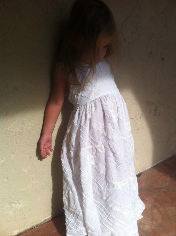 White Halter Eyelet and Lace..NB, 3m, 6m, 12m, 18m, 2T, 3T, 4T..dressbabybeautiful