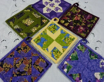 Grapes Print Pot holder Collection