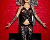 SALE REDUCED PRICE Bizarre Boudoir Black Goddess Rises Open Tank