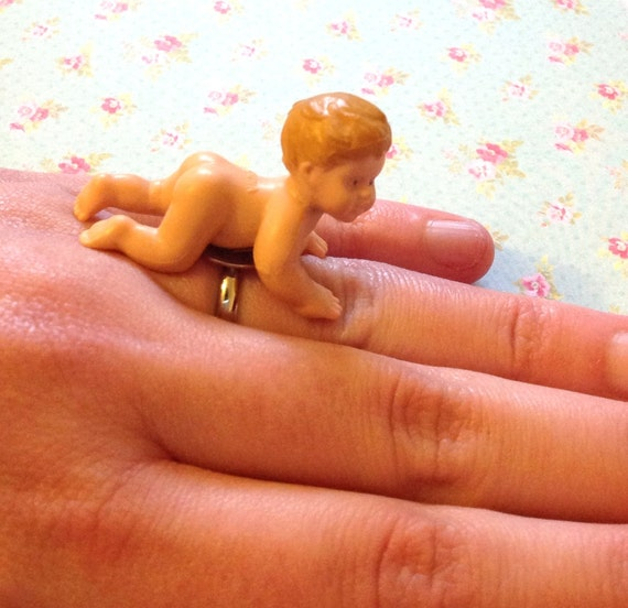 SUPER SALE Crawling Cuthbert Baby Ring