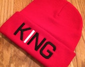 Trucks & Pearls Red KING. Knit Beanie