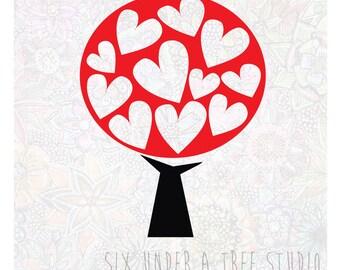 Love Tree Wall Vinyl Decals Art Graphics Stickers