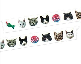 Mark's Maste Mini Washi Masking Tape - Cats / Cosmos