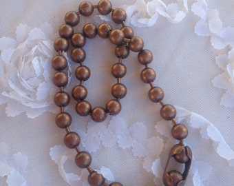 Copper Ball Chain Necklace with Clasp
