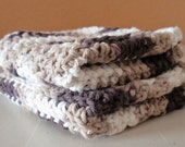 Crochet Washcloths - Chocolate Cream Scrubbie Cloths - Eco Friendly Cleaning Cloth - Handmade Washcloths - 100% Cotton Yarn - SET OF 2