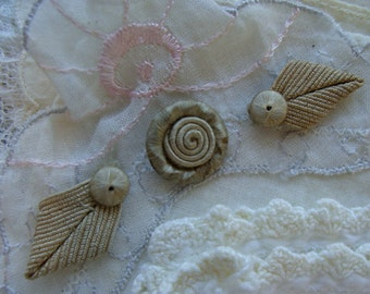 Antique 1920s Silk Millinery Applique Lot Gorgeous and Rare
