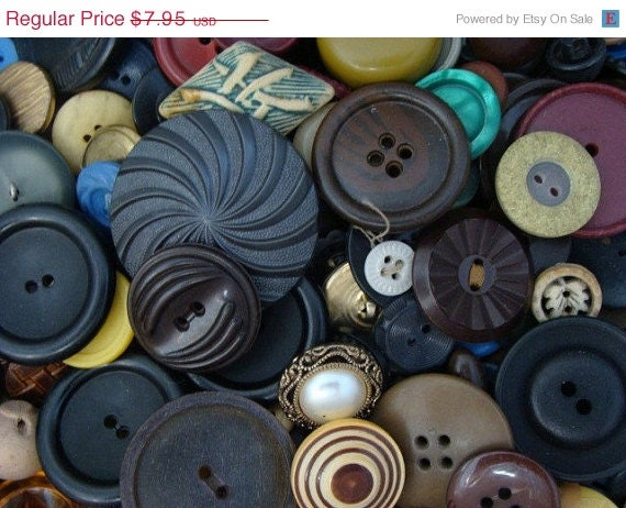 Clearance Sale 50 Vintage Button Lot