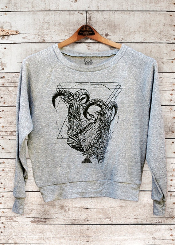 Mt Kenya - womens long sleeve raglan pullover - modern rocker print  - by Simka Sol