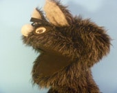 Big Bad Wolf Grey and Black Hand Puppet