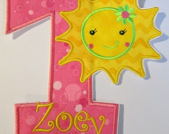 "Iron On Applique - ""You are my Sunshine"" Birthday"