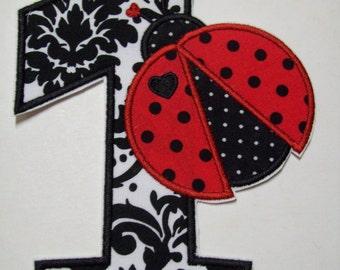 Iron On Applique - Ladybug Birthday