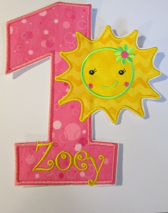 """Iron On Applique - """"You are my Sunshine"""" Birthday"""