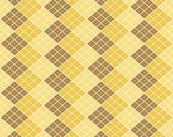 Yellow Checkers Indie Chic Fabric - Riley Blake