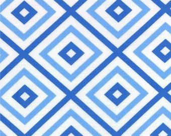 Blue Geometric Squares Hubba Hubba Fabric - Moda - Me and My Sister - 22215 16