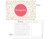 Confetti personalized placemat