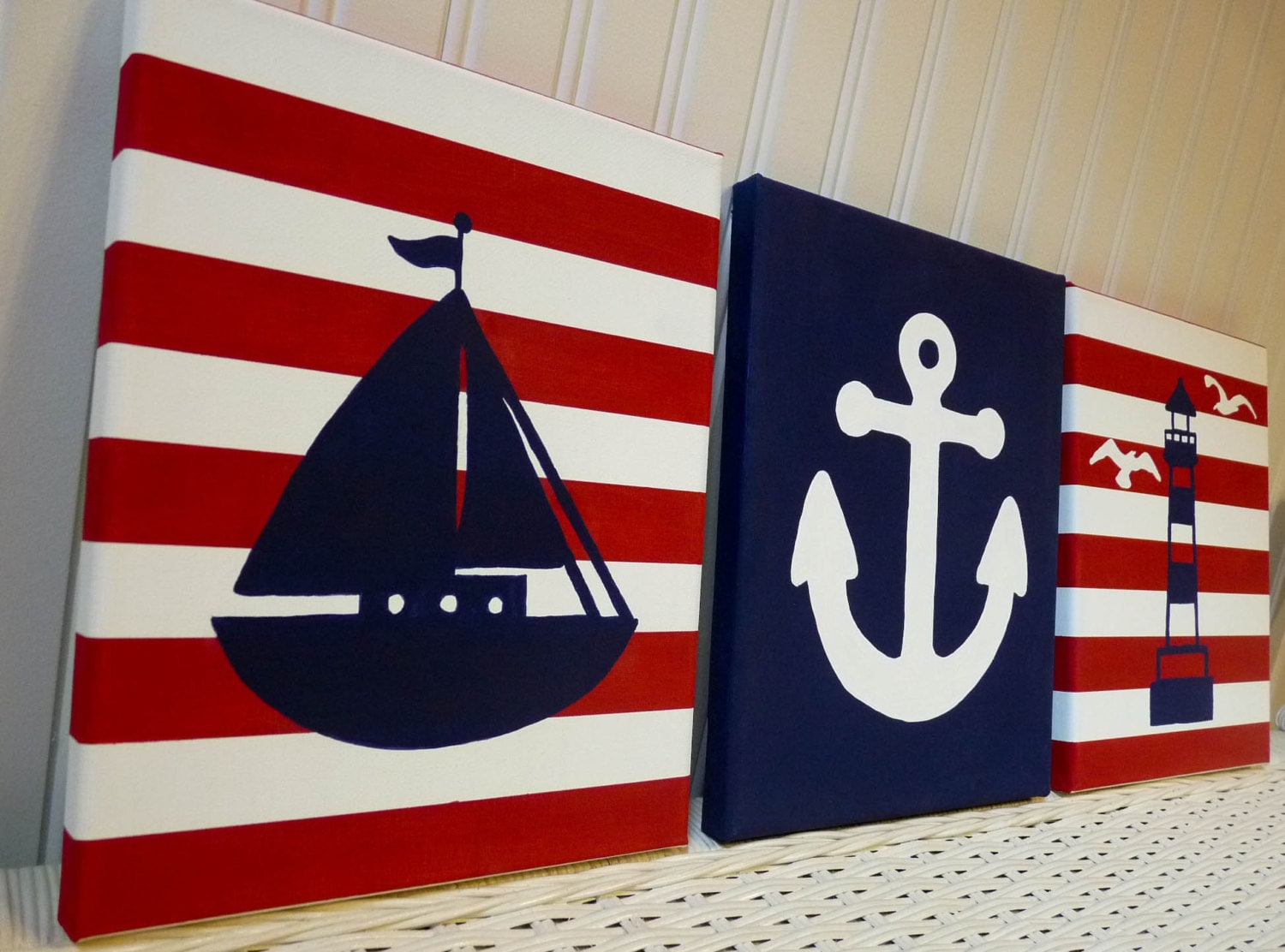 Nautical Nursery Wall Decor nautical nursery paintings nursery wall decor sailboat