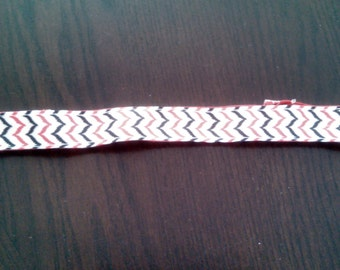 Black and Red Chevron Print No Slip Headband