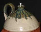 Blue wood Ash Glazed Oil Lamp/Candle