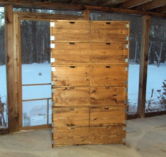 Reclaimed Wood look Dresser 6 ft tall x 3 ft wide Dresser Old Barn Wood Look Toy Chest ArmoireTV Cabinet Entertainment Center bookcase