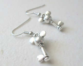 Mickey Mouse Inspired Dangle Key Earrings