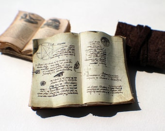 Miniature Open Book --- Spellbook