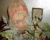 Burlap Feed sack ,reindeer bags, Santa sack, feed bag, Burlap christmas bag, gift bag, Santa' Reindeer Feed, Saint Nick Milling Company.
