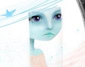 5x7 Fine Art Print - 'Space' - Small Giclee Print Fantasy Artwork by Jessica Grundy